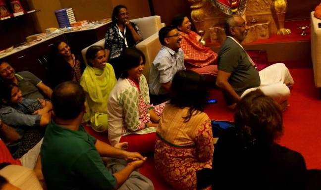 …and laughter therapy for all the participants!