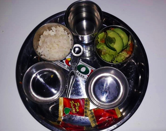 Food physically is accepted by Mohanji during an offering