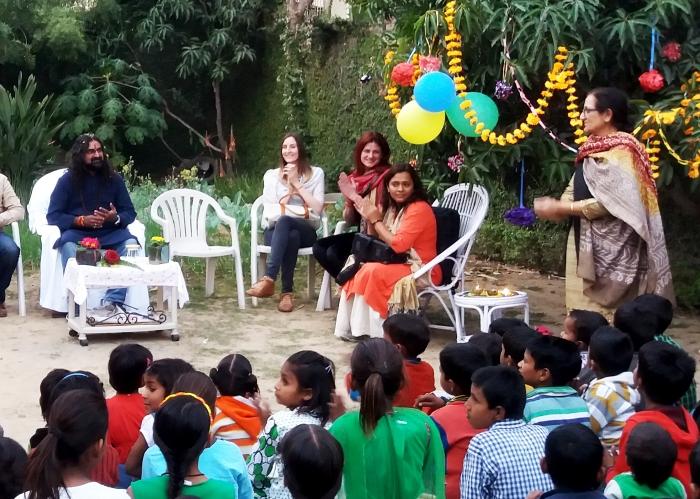 Madam Nirupama  giving the information about school activities