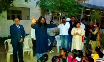 Mohan ji showering his blessings on all
