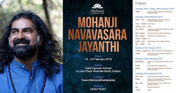 Mohanji Navavasara Jayanti, Mohanjis birthday celebrations in Datta Tapovan South Africa 2016