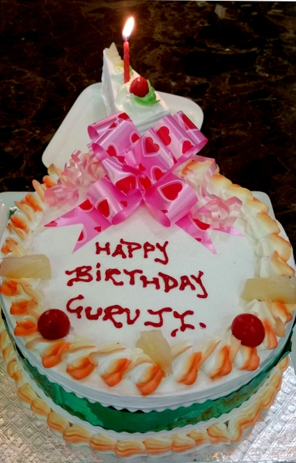 Mohanjis birthday cake at Madhuban katra Jammu