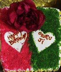 Mohanjis birthday celebration in Jammu 2016 - cake