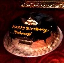 Mohanjis birthday celebration in Kolkata - cake 2016