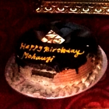 Mohanjis birthday celebration in Kolkata - cake 2016