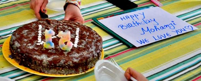 Mohanjis birthday celebration in Macedonia 2016 - Birthday cake
