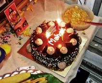 Mohanjis birthday celebration in Mumbai 2016 - cake