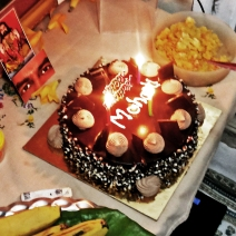 Mohanjis birthday celebration in Mumbai 2016 - cake