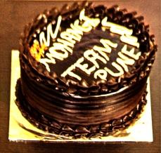 Mohanjis birthday celebration in Pune 2016 - cake