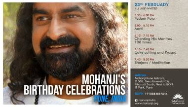 Mohanjis birthday celebration in Pune 23rd Feb