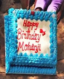 Mohanjis birthday celebration in shumbashaba, Johannesburg 2016 - cake 1