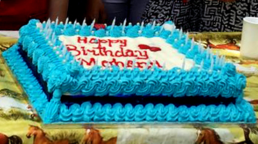 Mohanjis birthday celebration in shumbashaba, Johannesburg 2016 - cake