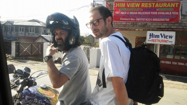 7 Rajesh and I on his motorcycle