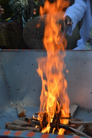 4 Homa at Datta Tapovan Ashram - left