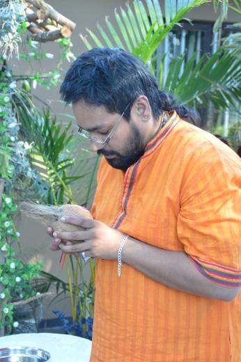 5 Homa at Datta Tapovan Ashram - right