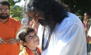8 Sahil, a 10 year old devotee, that opened the weekend program by performing Padam Pooja