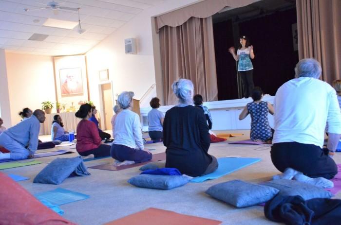 Yoga led by Devi