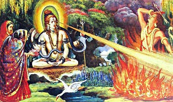 11 Shiva burning the demon