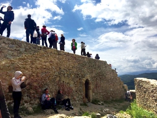 At the top of the pyramid of the Sun