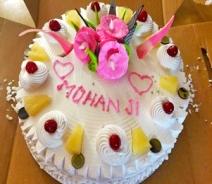 Happy birthday Mohanji - Delhi -Ashram Chowk -Cake
