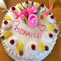 Happy birthday Mohanji - Delhi -Ashram Chowk -Cake