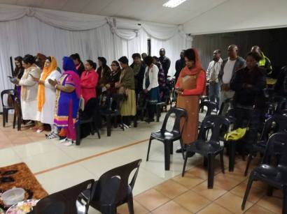 Members in Newcastle who gathered to celebrate Babas birthday