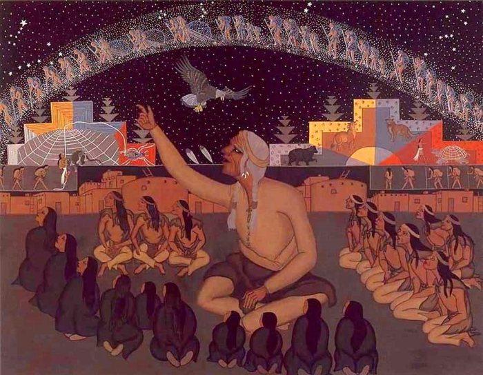 Pic 21 - Native American story teller tribe stars