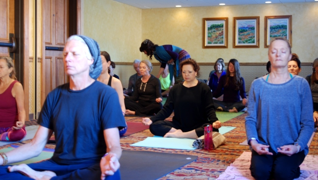 Pic 5 - 1st HSTY session, Initial pranayama