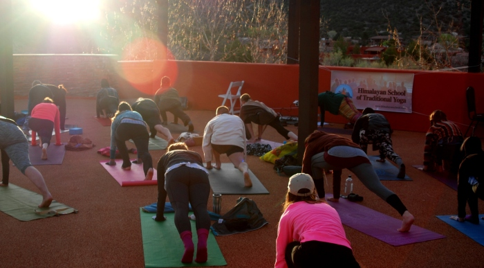 Pic 7 - Sun Salutations in Sedona at sunrise