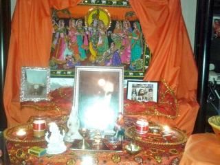 The shrine in Ladysmith for Babajis birthday celebration