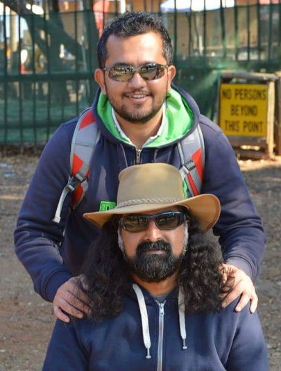 Mitesh with Mohanji in SA