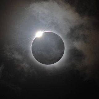 Mohanji's image in the sky during total solar eclipse 2017