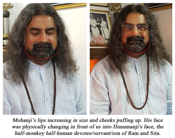 Mohanji - Lord Hanuman manifests on His face - 13,14 - Dec 2017