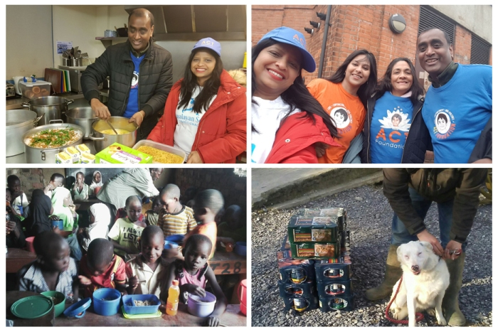 UK - Happy birthday Mohanji - Feeding the hungry - ACT UK