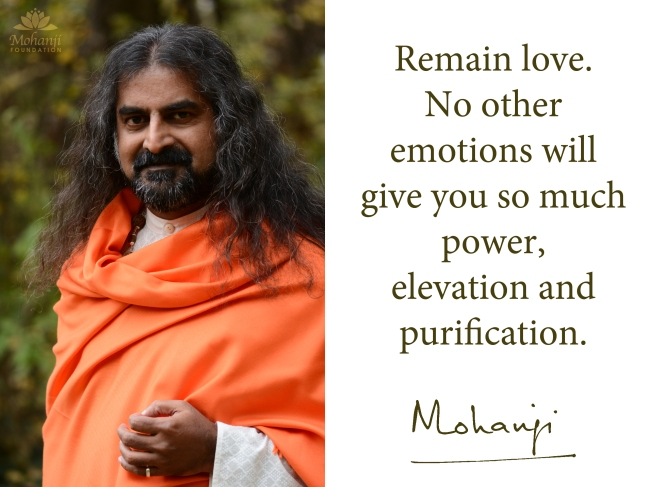 Mohanji quote - Remain love