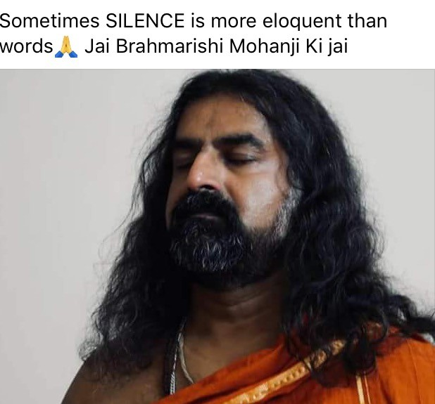 Mohanji, The Brother in truth 6 - silence - quote - more eloquent than words