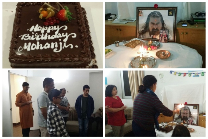 Started with 108 Mahamrityunjaya Mantra chanting followed by Aarti and Cake Cutting- Happy birthday Mohanji