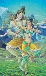 SUjata 9 - Shiva and Parvati - Kailash with Mohanji