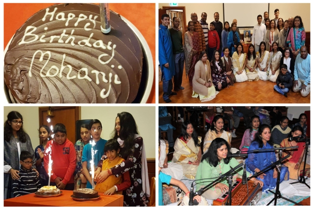 UK - Happy birthday Mohanji - evening - cake and bhajans