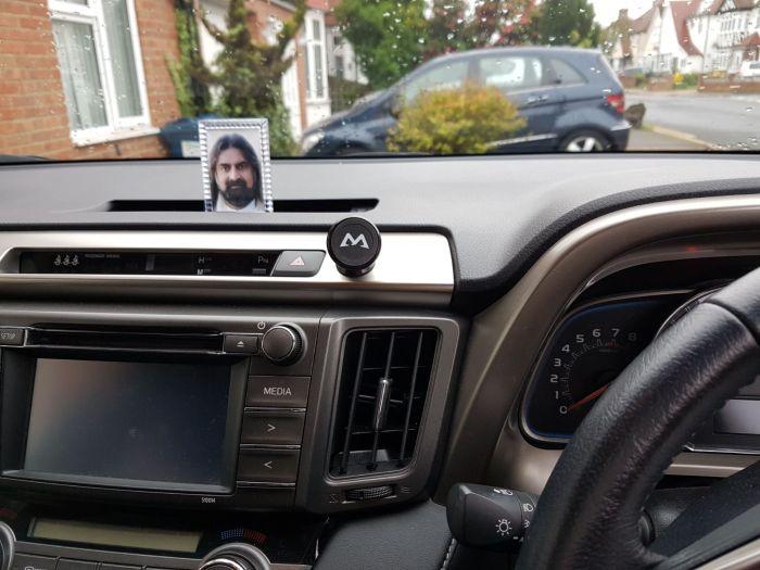 mohansuniverse - Mohanji - Mohanji frame in car dashboard