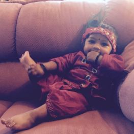 Ariv on Diwali as baby Krsna