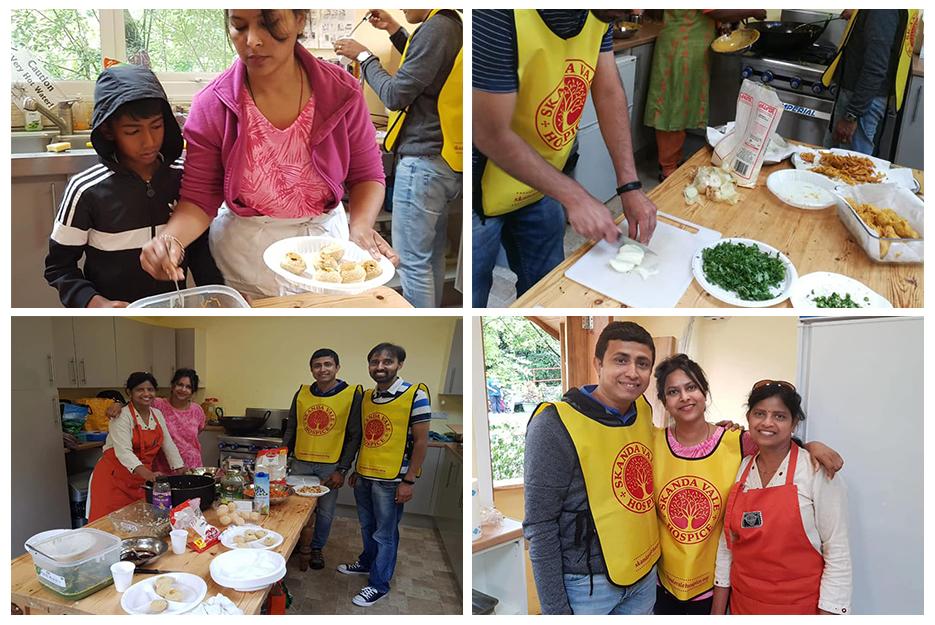 Guru Purnima celebration - Food seva at Skanda Vale - Mohanji colage
