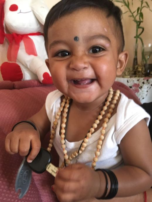 His smile after his healing and Devi Kavacham