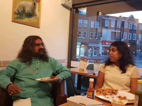 Vegan chit chat at Ahimsa