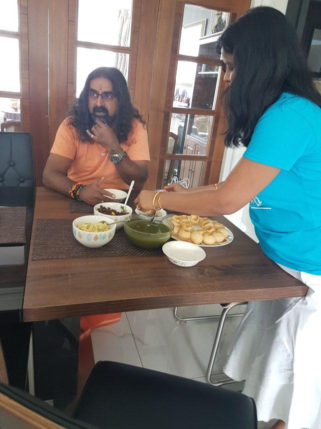 Panipuri & Mohanji - inseparable!
