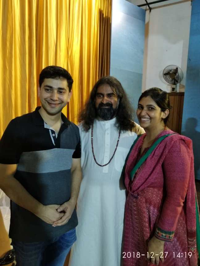 Mohanji Chronicles Blog - A Dip At The Kumbh Mela - Freedom From A Bond - Mohanji with Pritam and his wife Gitanjali