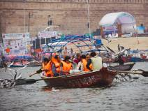 Boat ride at Prayagraj Kumbh 2019
