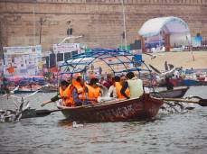 Boat ride at Prayagraj Kumbh 2019