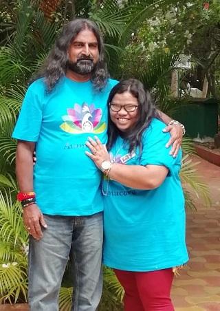 Aishwariya with Mohanji