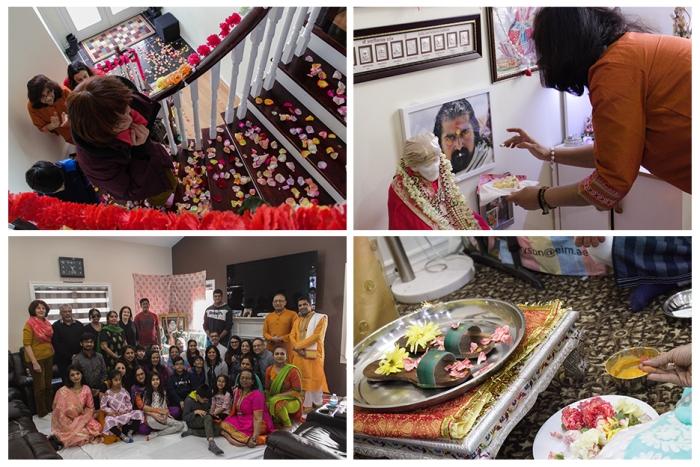 Happy birthday Mohanji - Canada - Pada Puja - petals on stairs